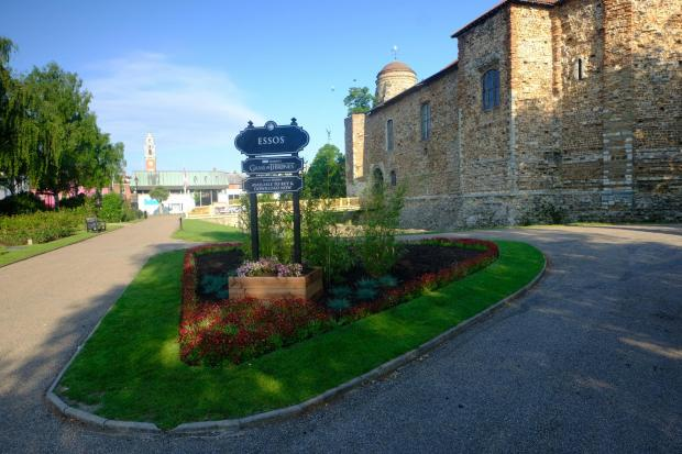 Maldon and Burnham Standard: The sign has been unveiled outside Colchester Castle