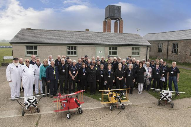 A group of volunteers from Stow Maries Great War Aerodrome